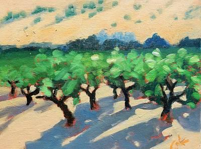 California Vineyard Painting - Wine Habitat by Gary Coleman