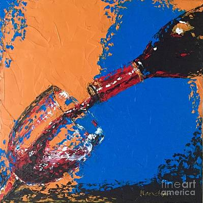 Still Life Painting - Wine II by Kanchan Mehendale