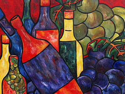 Italian Kitchen Painting - Wine In Color by Patti Schermerhorn