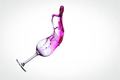 Wine In Free Fall - 12 Print by Mark A Hunter