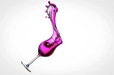 Mess Photograph - Wine In Free Fall - 20 by Mark A Hunter