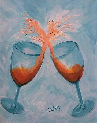Painting - Wine In Motion by Christina Schott