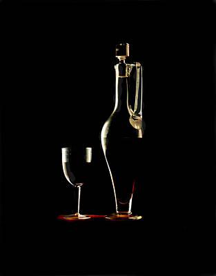 Wine Art Print by Jon Daly