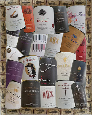 Photograph - Wine Labels by Carol Lynn Coronios