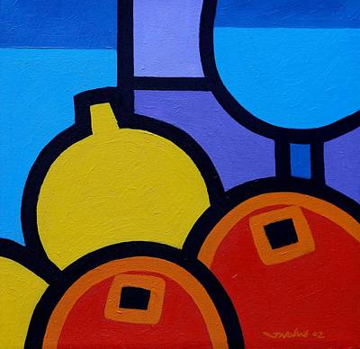 Wine Lemons Oranges Original by John  Nolan
