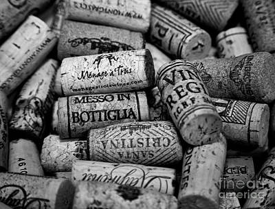 Photograph - Wine Lovers Black And White by David Millenheft
