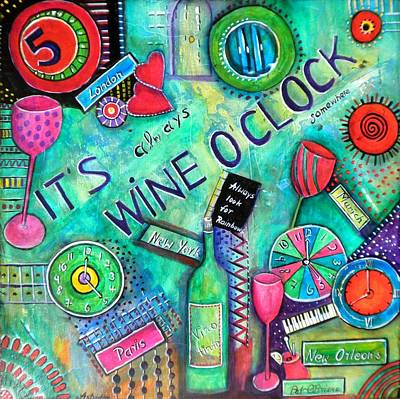 Pat O Briens Painting - Wine O'clock II by Astrid Rosemergy