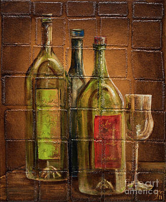Wine Of Three Original by Jodi Monahan
