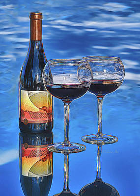 Photograph - Wine  by OLena Art Brand