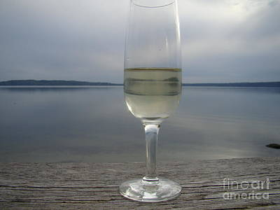 Photograph - Wine On The Deck by Lydia L Kramer