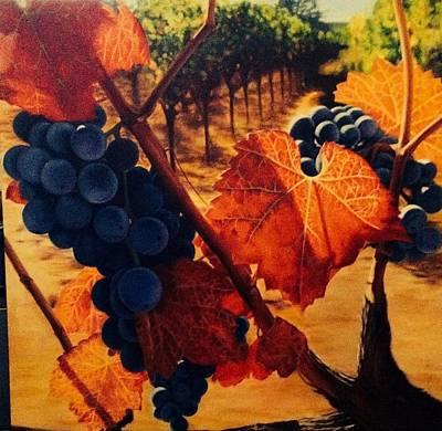 Napa Valley Vineyard Painting - Wine On The Vine #1 by Deborah Plath