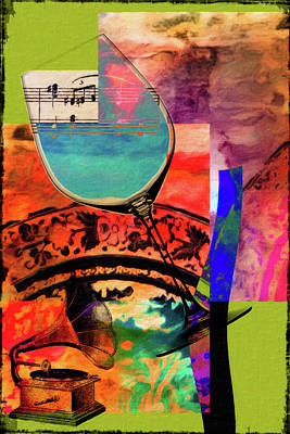 Lime Mixed Media - Wine Pairings 10 by Priscilla Huber
