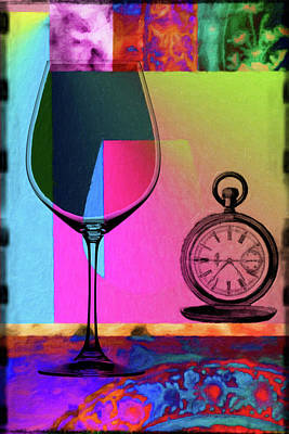Lime Mixed Media - Wine Pairings 3 by Priscilla Huber