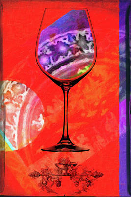 Buffet Mixed Media - Wine Pairings 5 by Priscilla Huber