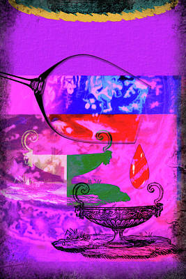 Spilled Wine Mixed Media - Wine Pairings 6 by Priscilla Huber