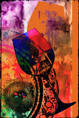Plum Mixed Media - Wine Pairings 7 by Priscilla Huber