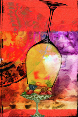 Pear Mixed Media - Wine Pairings 8 by Priscilla Huber