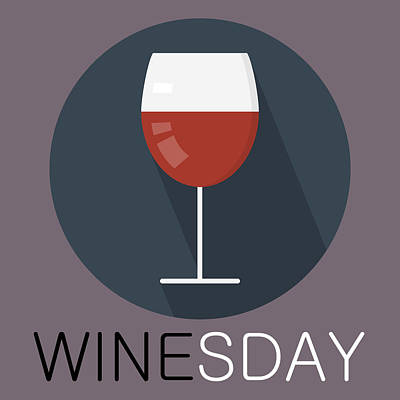 Painting - Wine Poster Print - It's Winesday by Beautify My Walls