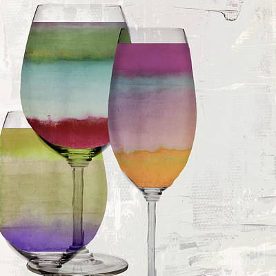Multi Colored Painting - Wine Prism by Mindy Sommers