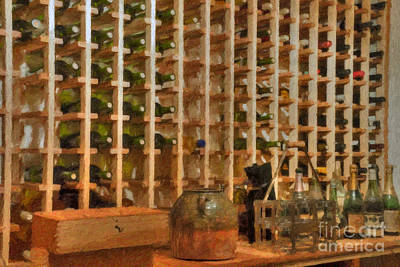 Photograph - Wine Rack Vineyard Fermentation   by David Zanzinger