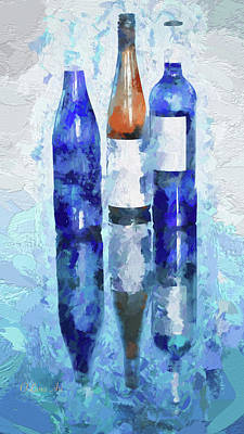 Photograph - Wine Reflection by OLena Art Brand
