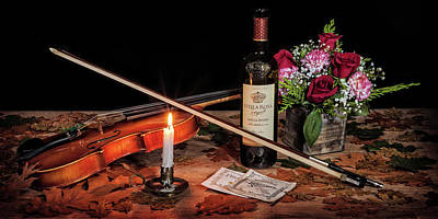 Photograph - Wine, Roses, And Music by Ken Smith