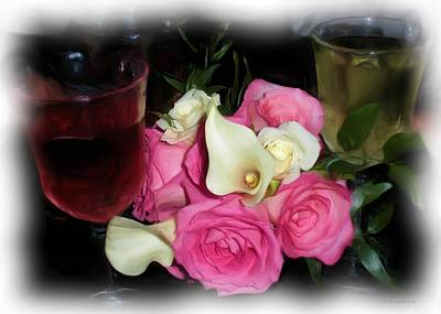 Photograph - Wine, Roses And Promises by Liz Evensen