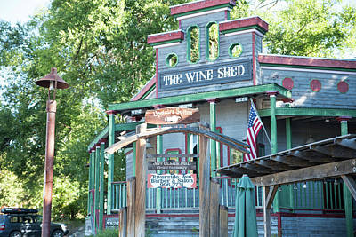 Photograph - Wine Shed by Tom Cochran