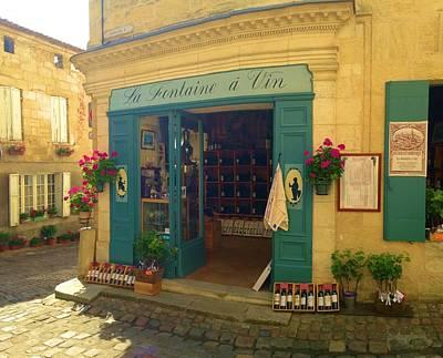 Wine Shop In French Village Art Print by Richard Jenkins