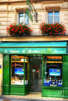 Paris Wine Bottles Photograph - Wine Shop On Rue Cler by Mel Steinhauer