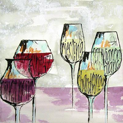 Wall Art - Painting - Wine Snob 1 by Chris Paschke