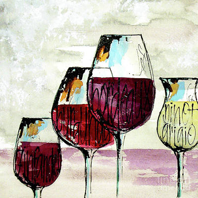 Wall Art - Painting - Wine Snob 2 by Chris Paschke