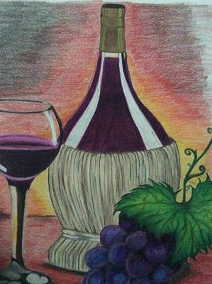 Purple Grapes Drawing - Wine So Fine by Joanna Smith