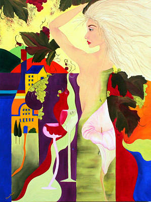 Wine Spirit Art Print by Gwen Rose