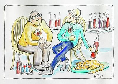 Wine Tasters Art Print