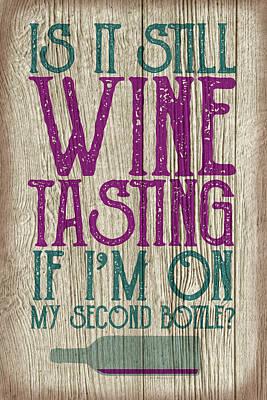 Digital Art - Wine Tasting 2 by WB Johnston