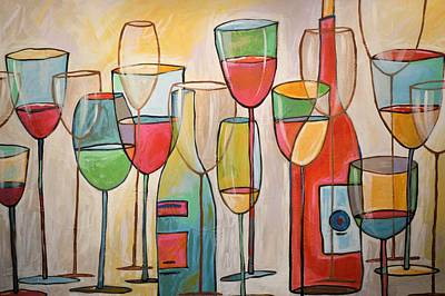 Painting - Wine Tasting by Amy Giacomelli