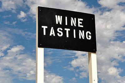 Vino Photograph - Wine Tasting Sign by Brandon Bourdages