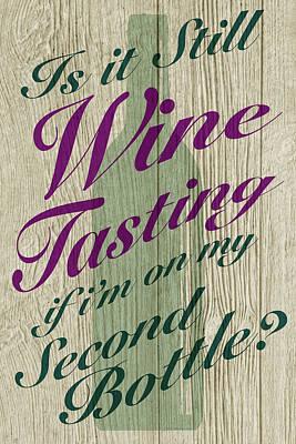Digital Art - Wine Tasting by WB Johnston