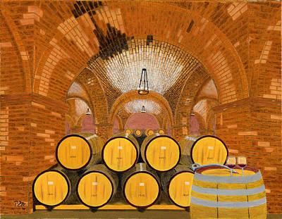 Wine Cave Painting - Wine Thief by Peter Mantarakis