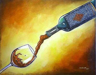 Painting - Wine Time by Sandra Lett