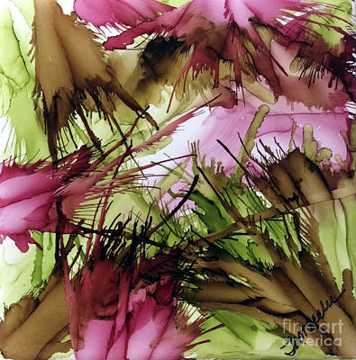 Splashy Painting - Wine Time by Jo Ann Bossems