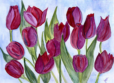 Painting - Wine Tulips by Julia Stubbe
