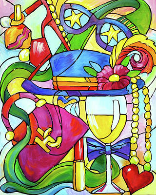 Wine Accessories Painting - Wine Women And Shoes by Judi Krew
