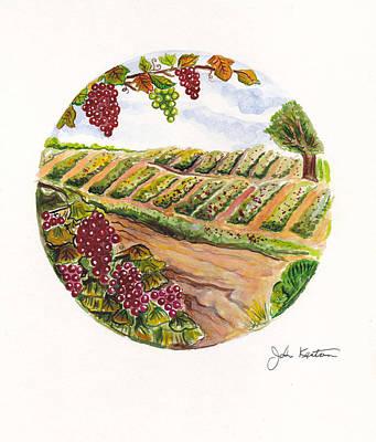 Painting - Winefields by John Keaton