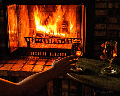 Photograph - Wine,fire,night.... by Paul Vitko