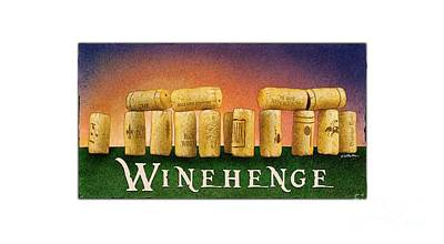 Painting - Winehenge by Will Bullas