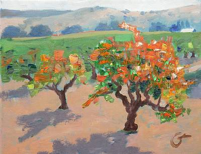 Winery Painting - Winery Addiction by Gary Coleman
