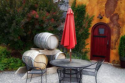 Wine Barrel Mixed Media - Winery Anyela's Vineyard Skaneateles New York Wine Barrels by Thomas Woolworth