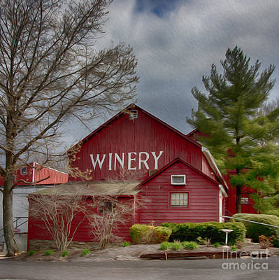 Winetasting Photograph - Winery Bucks County  by Tom Gari Gallery-Three-Photography